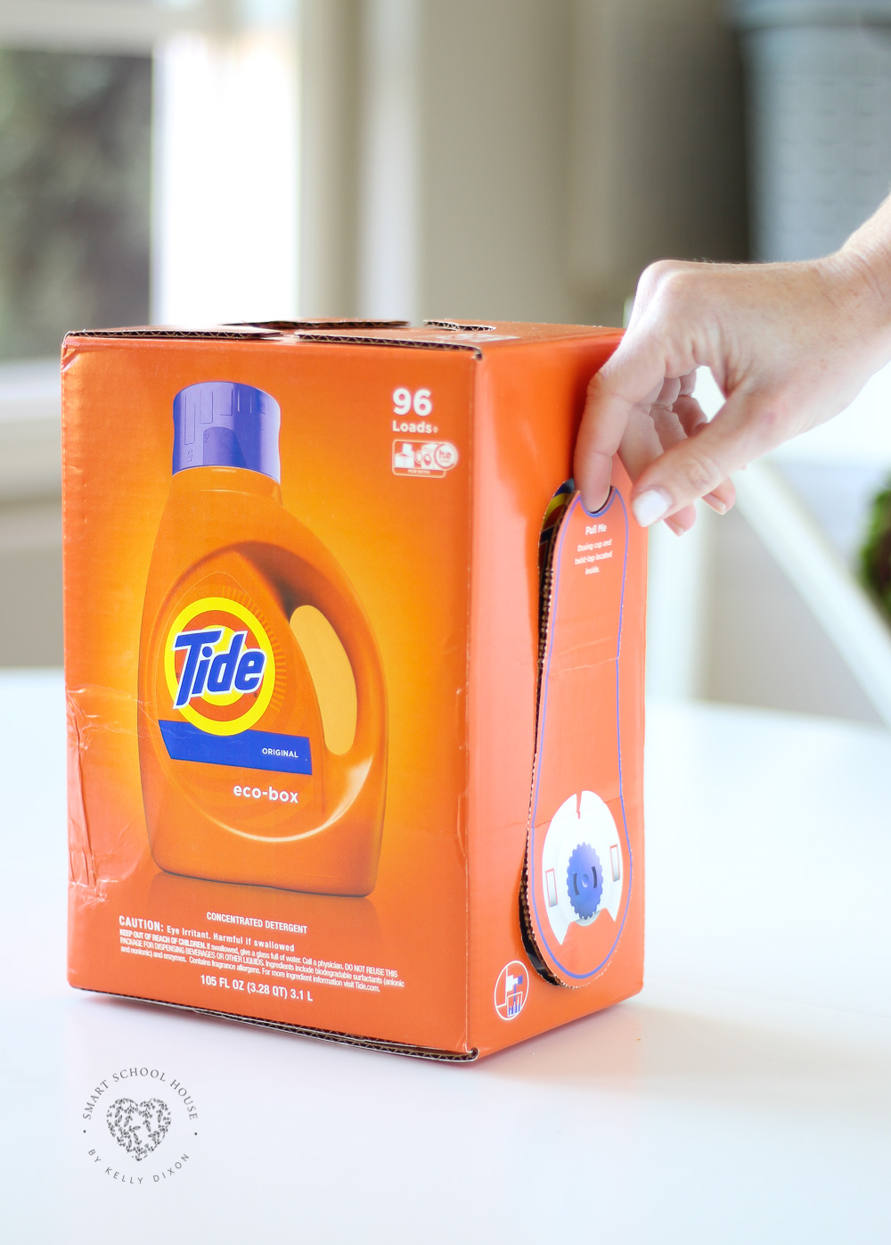 TIDY TIPS: The Tide Eco-Box is designed to reduce the environmental impact of shipping laundry detergent. #Sponsored