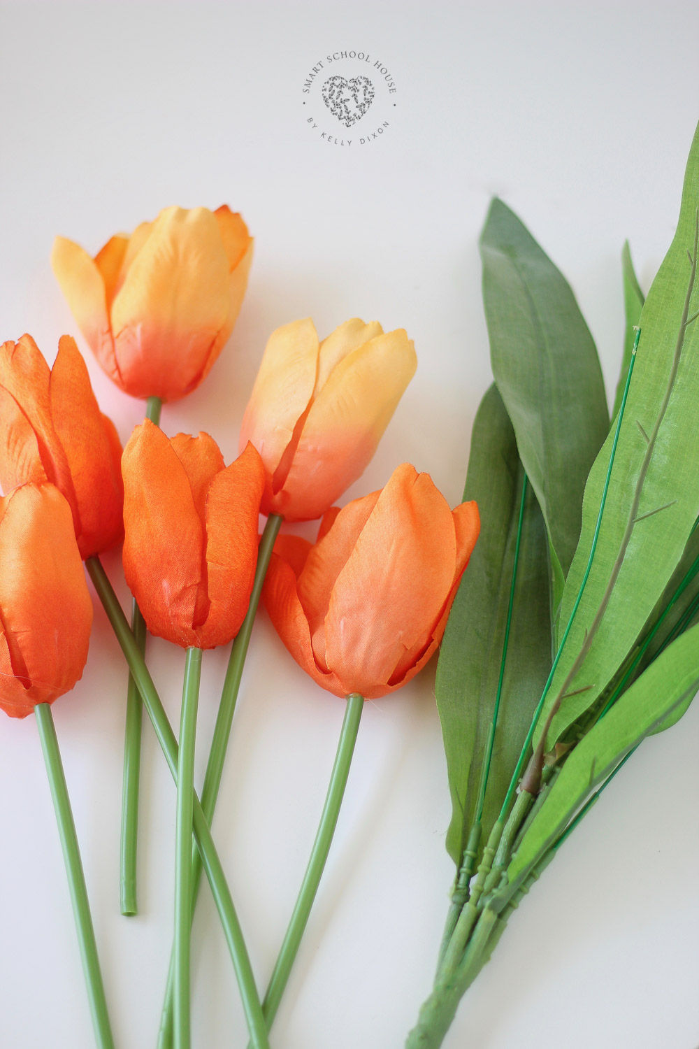 Tulip carrot wreath for spring and Easter