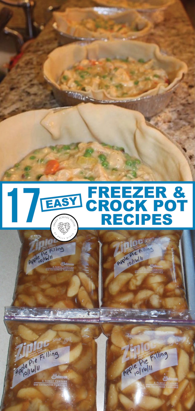 Freezer crock pot recipes are easy and quick make-ahead meal ideas. Just dump and go! We've gathered THE BEST LIST of crockpot freezer meal ideas that everyone craves on busy weeknights.