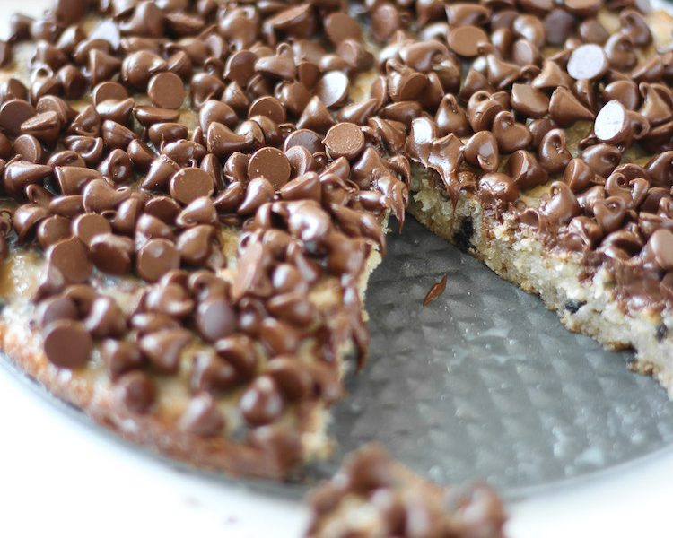 Chewy Chocolate Chip Pie - There is one... er... make that TWO secret ingredients in the cookie pie that makes it unbelievably delicious!