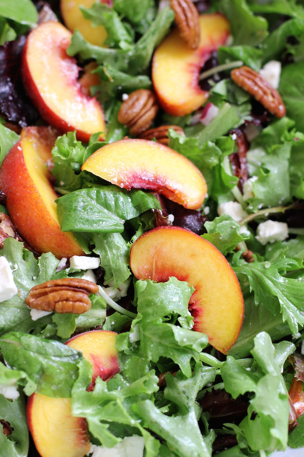 Peach Feta Pecan Salad - 20 SUMMER SALADS!