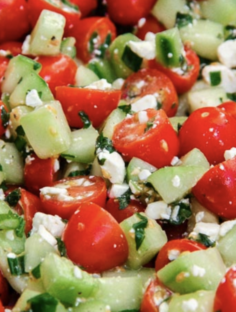 This is a perfect salad to take to any potluck or serve as a side!