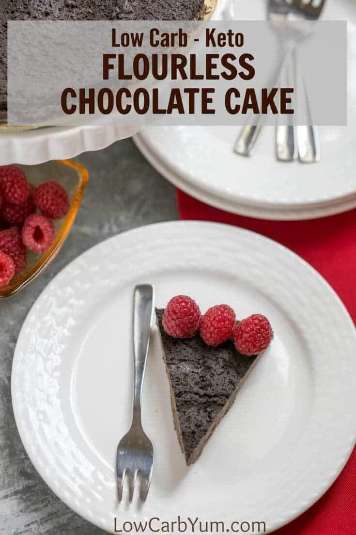 Keto Flourless Chocolate Cake. A delicious flourless low carb chocolate cake recipe. It's a simple low carb dessert idea and only requires 5 ingredients to get started!