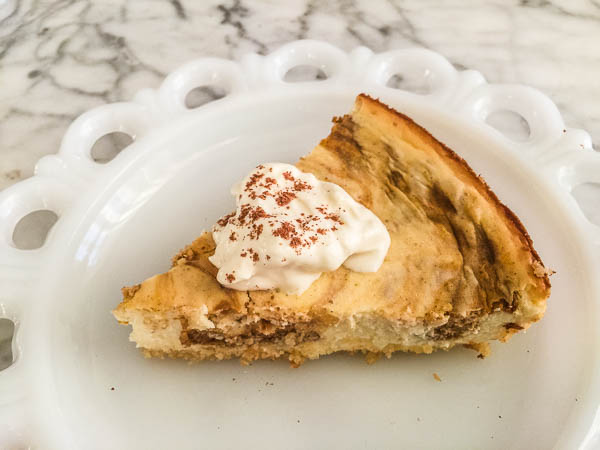 Keto Pumpkin Swirl Cheesecake. Seriously, this cheesecake is the bomb and no one can even tell it's keto.