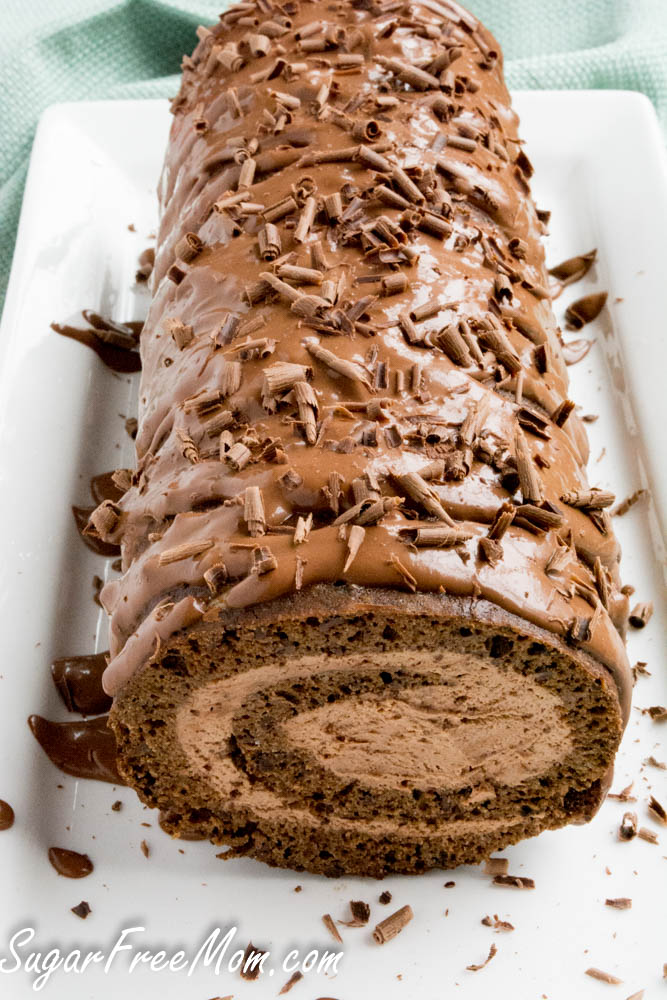 Sugar Free Low Carb Chocolate Tiramisu Cake Roll. You'd never know this Chocolate Tiramisu Cake Roll is actually low carb and sugar free and even nut free, just by looking at it or even tasting it!