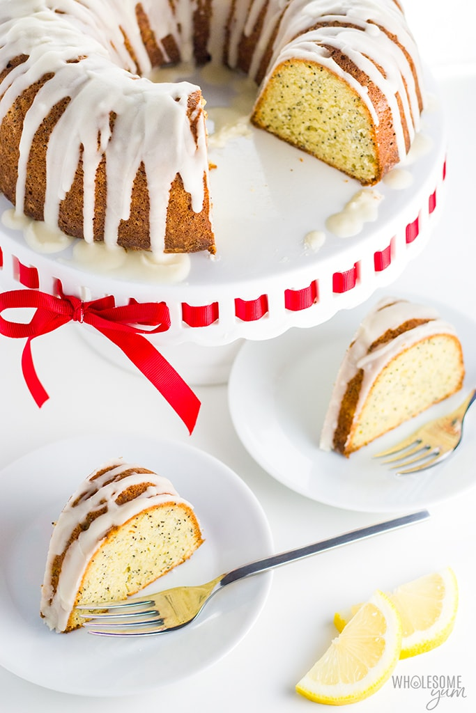 Lemon Poppy Seed Low Carb Keto Pound Cake Recipe