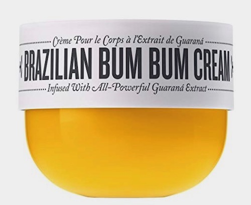 Brazilian Bum Bum Cream: A fast-absorbing body cream that helps tighten and smooth the look of skin
