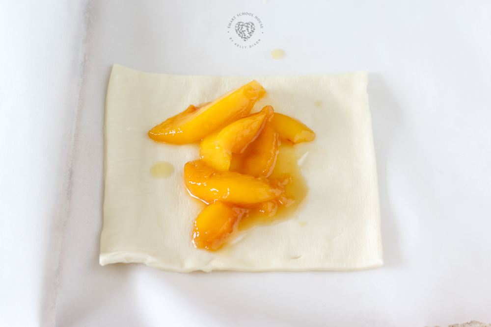 Making a peach turnover