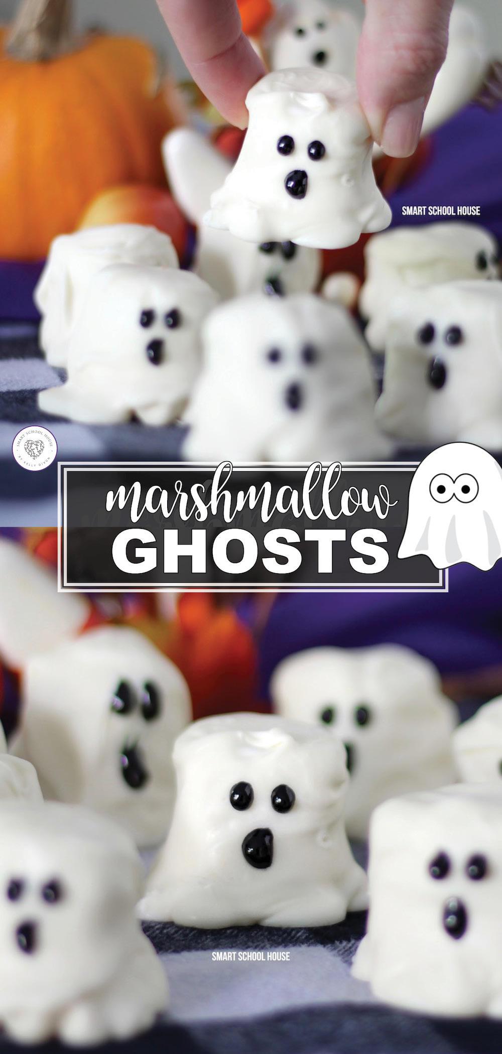 Marshmallow Ghosts are so perfectly delicious for Halloween, it's scary! Kids of all ages can help prepare these easy-to-make Halloween treats. With just three simple ingredients, they can be made at a moment's notice.