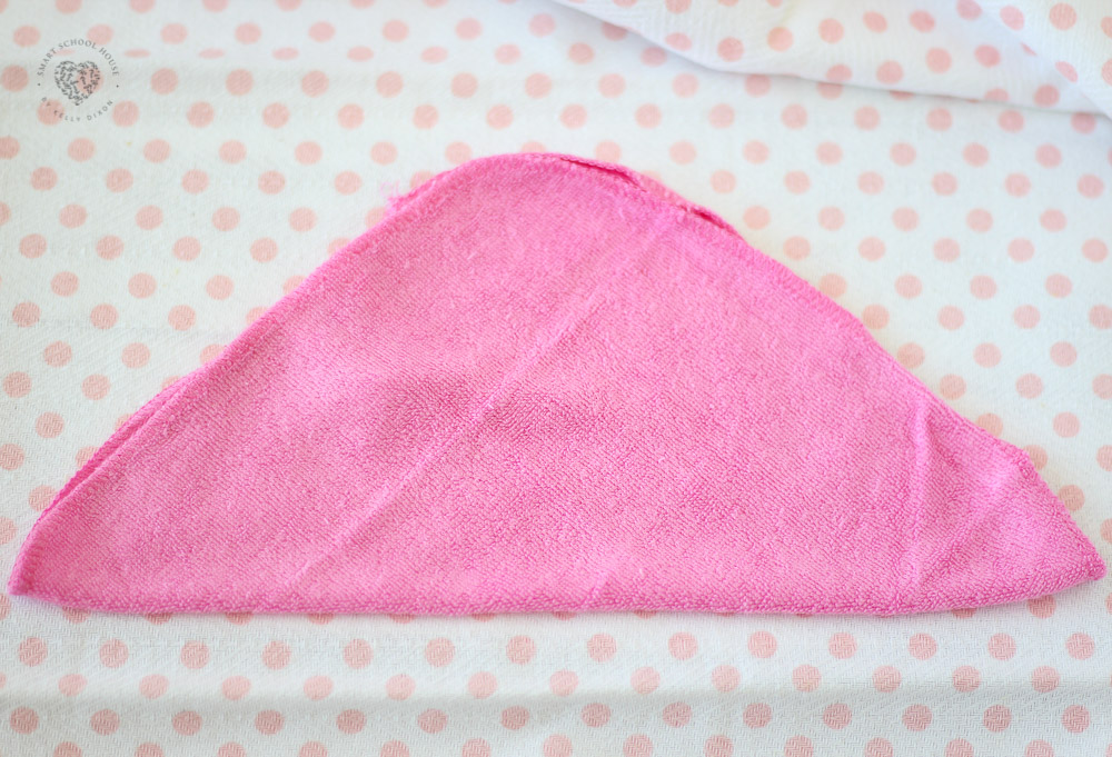 Folded baby washcloth