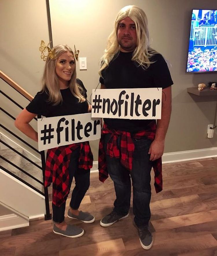 Filter and No-Filter Couples Costume
