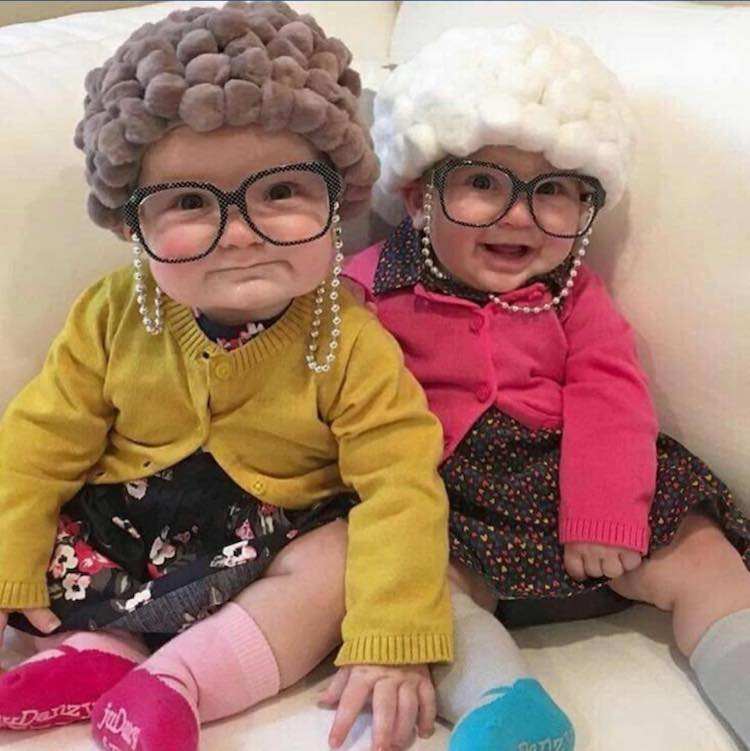 Little Old Lady Costume for Babies