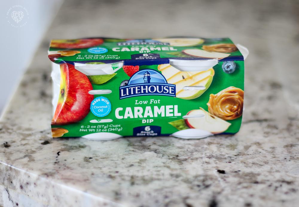 Individual caramel dip cups for making caramel apple goodie bags