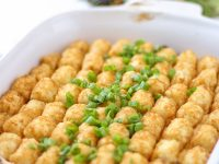 This Cheesy Tater Tot Casserole is the BEST Tater Tot Beef Casserole recipe! Layers of amazing flavor or an easy and delicious dinner any night of the week!