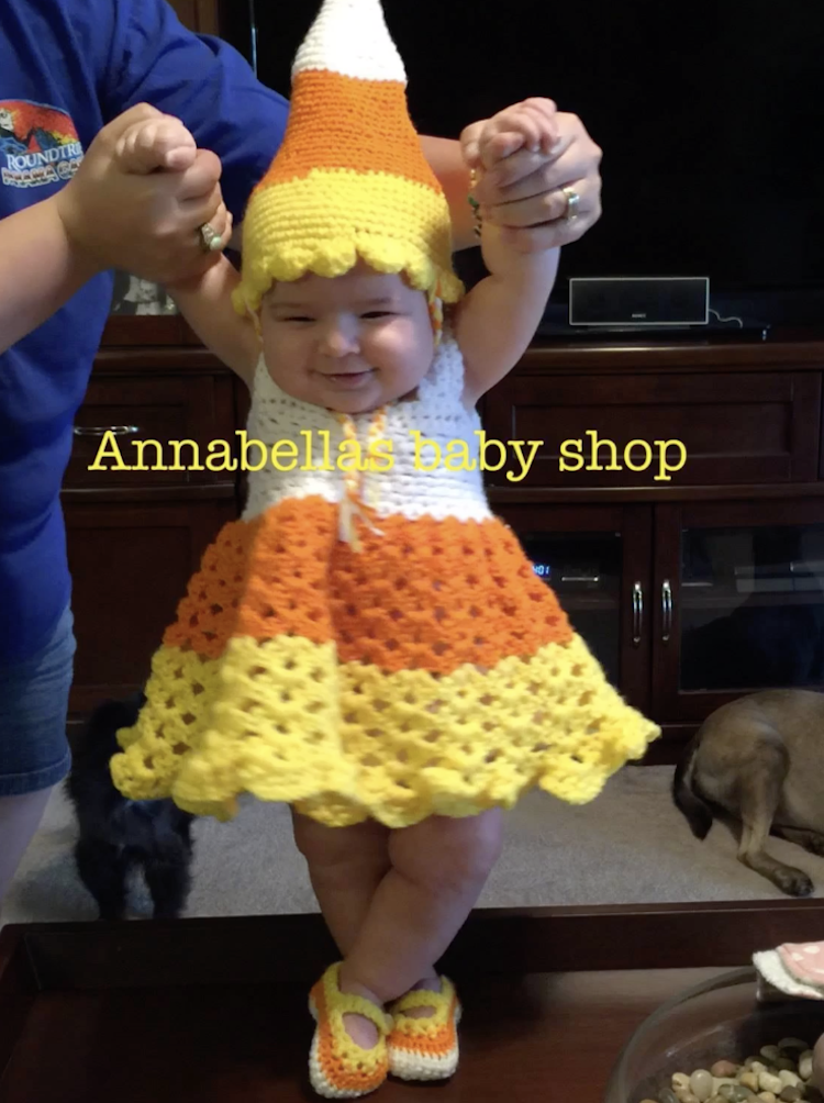 Crochet Candy Corn Costume