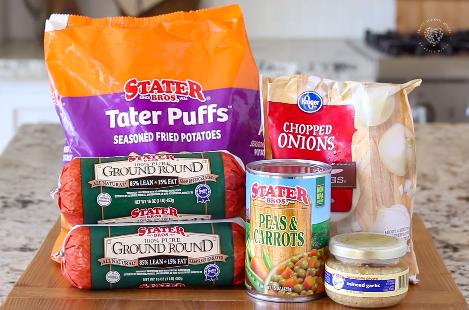 Ingredients for tater tot casserole recipe