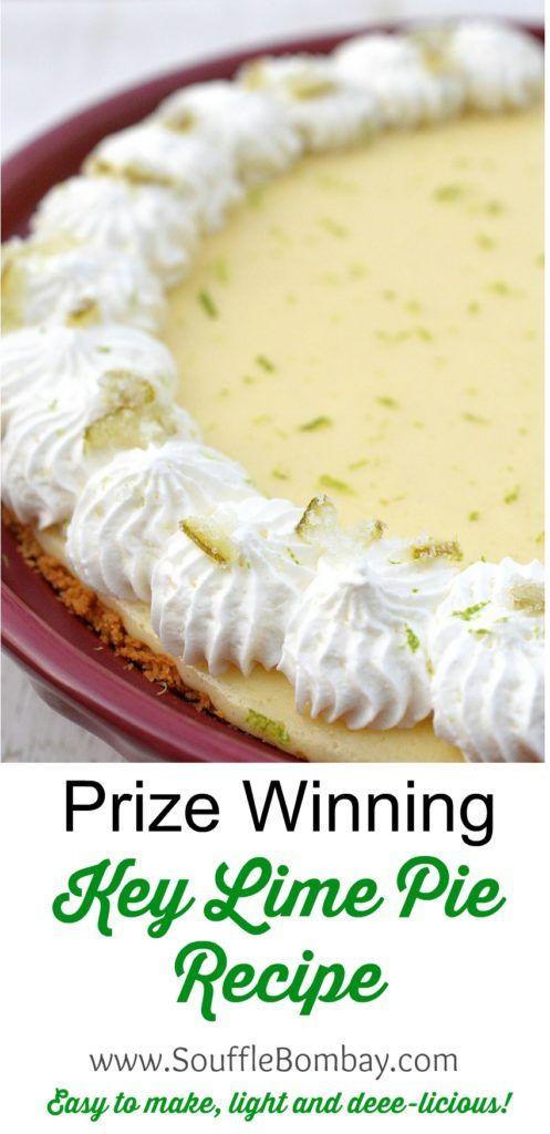 Prize Winning Key Lime Pie Recipe! This Key Lime Pie Recipe won me a trip to The Florida Keys in the Philly Florida Keys Cook Off! It's easy and delicious!