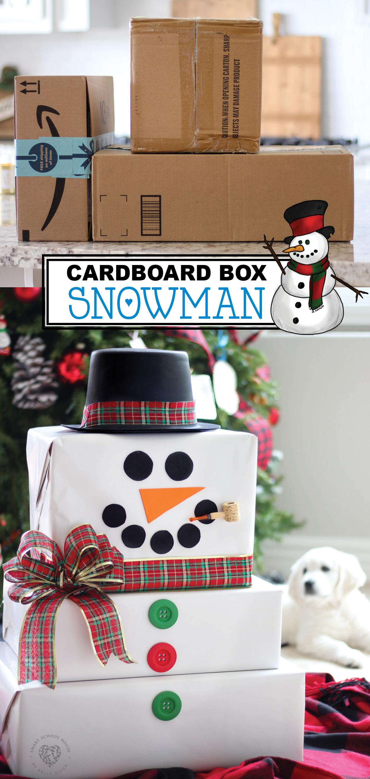 Cardboard Box Snowman