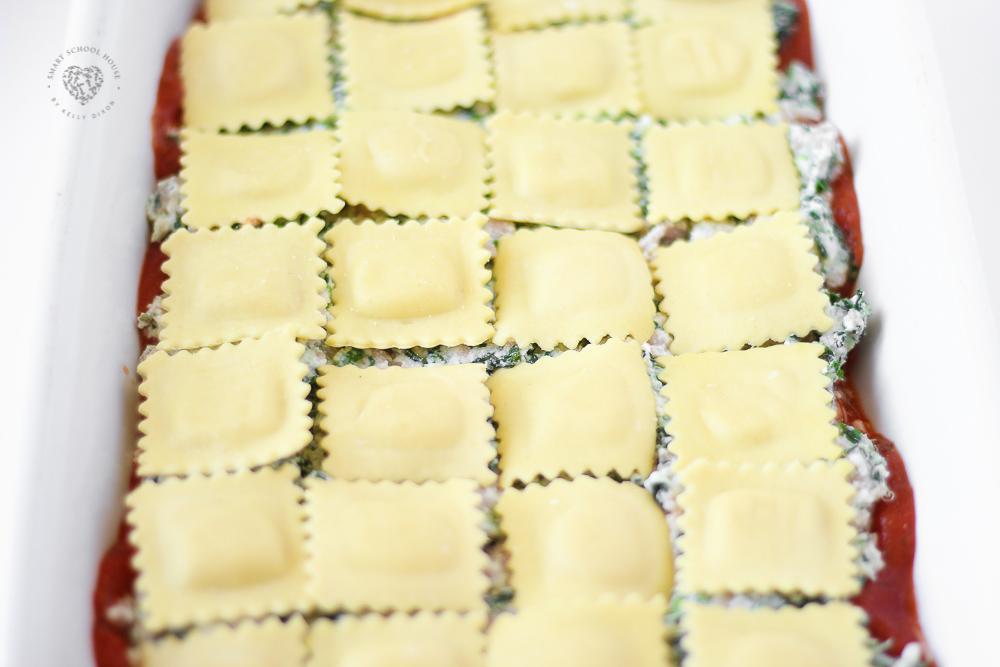 Ravioli casserole bake
