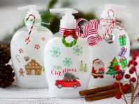 Christmas Soap Bottles