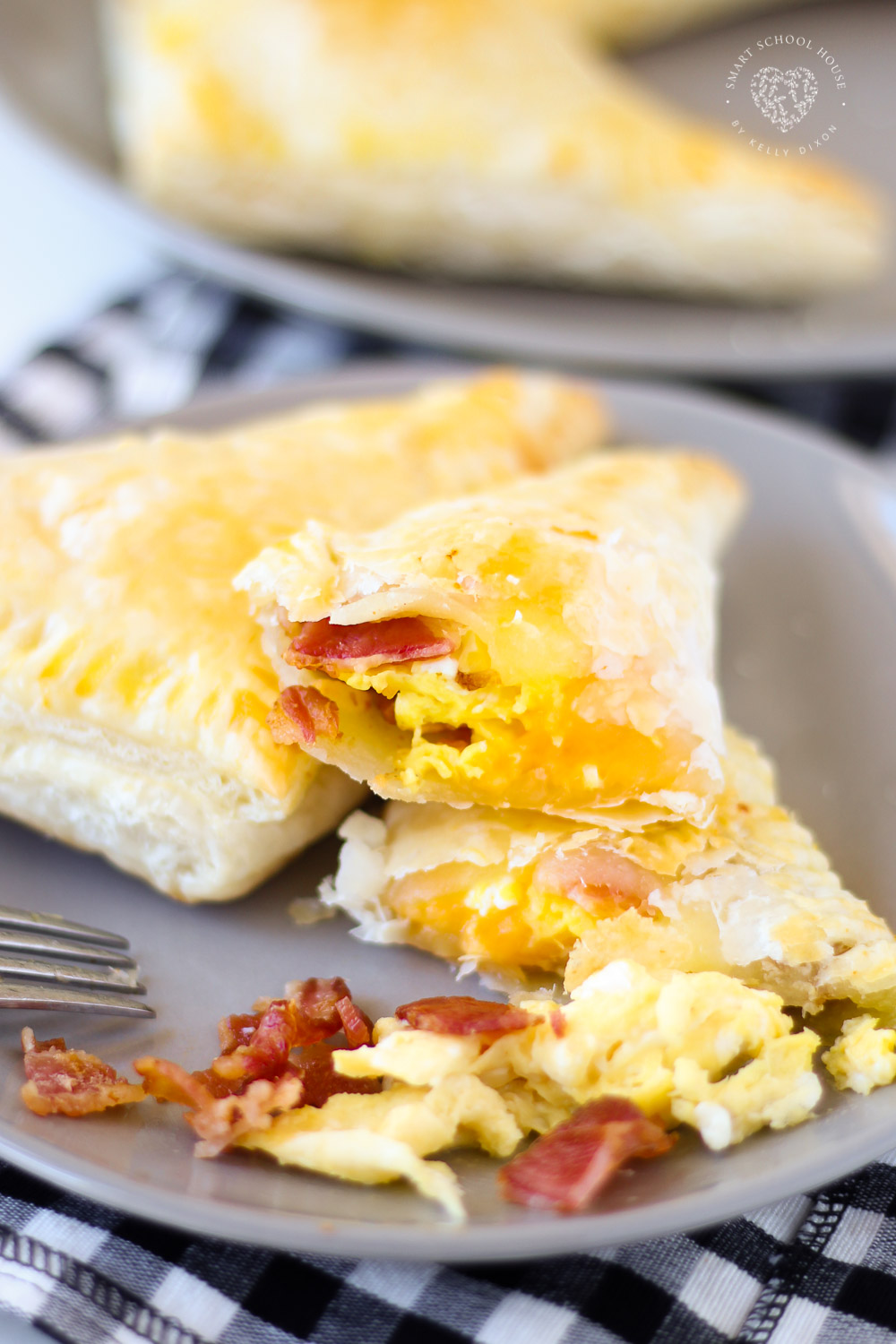 Bacon And Egg Breakfast Pockets Made With Puff Pastry Dough