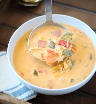 This creamy crock pot curry soup is a healthy dinner recipe that's perfect for fall and winter. Crock pot curry is one of the easiest meals to make and is so tasty. Your family will LOVE it!