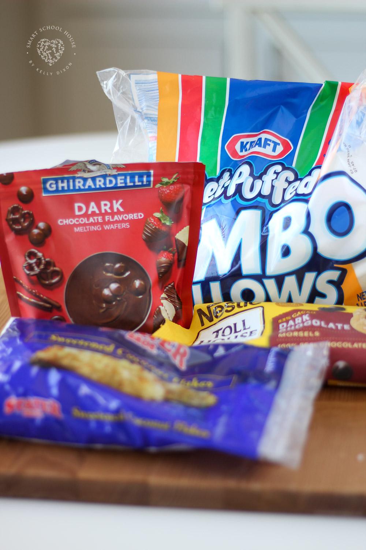 Ingredients for Polar Bear Paw Marshmallows