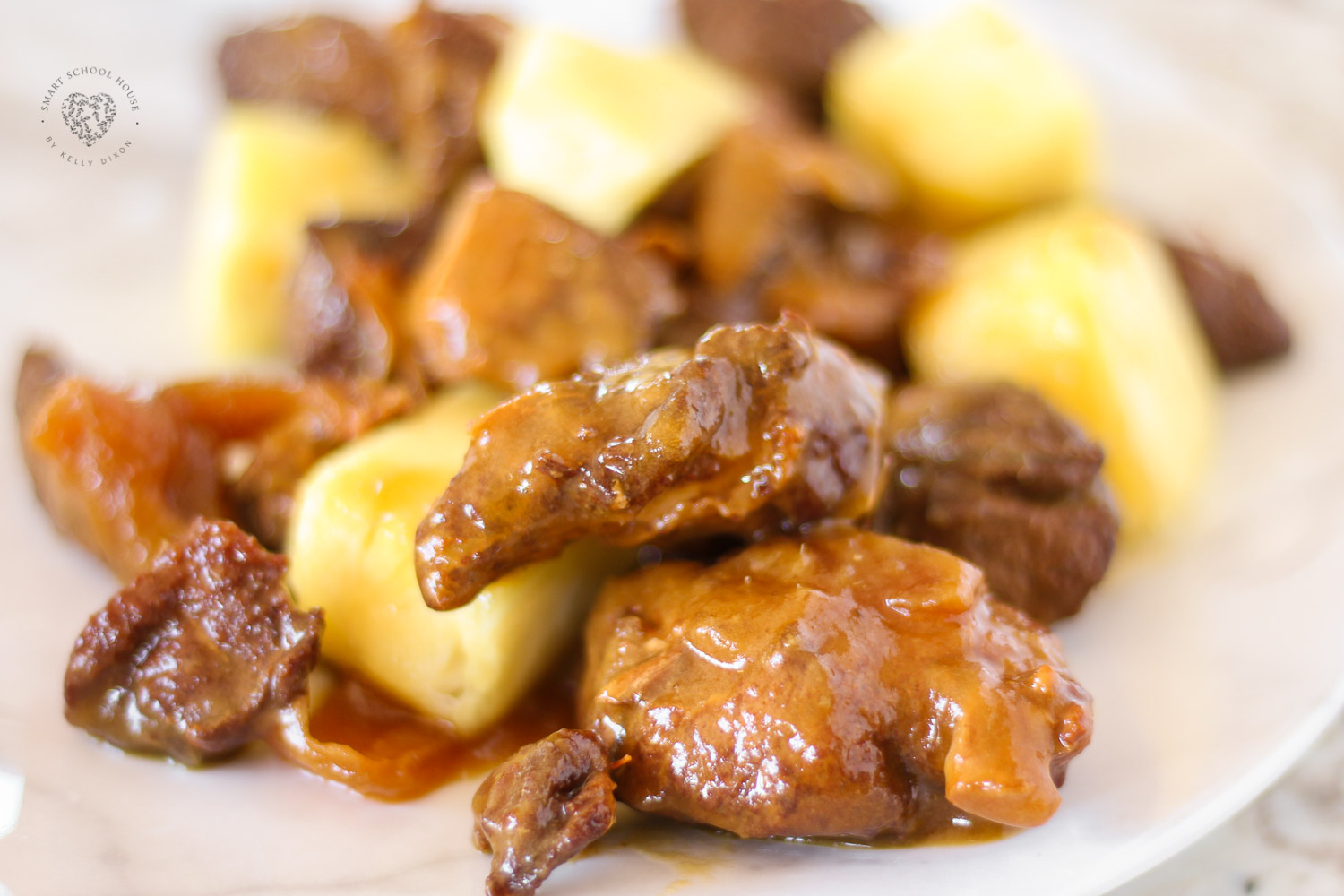 Sweet Hawaiian Crock Pot Chicken Recipe. Tender chicken smothered in a tropical glaze for a burst of pineapple flavor in every bite! Cook on low in Crock Pot 6-8 hours, that's it! Done!