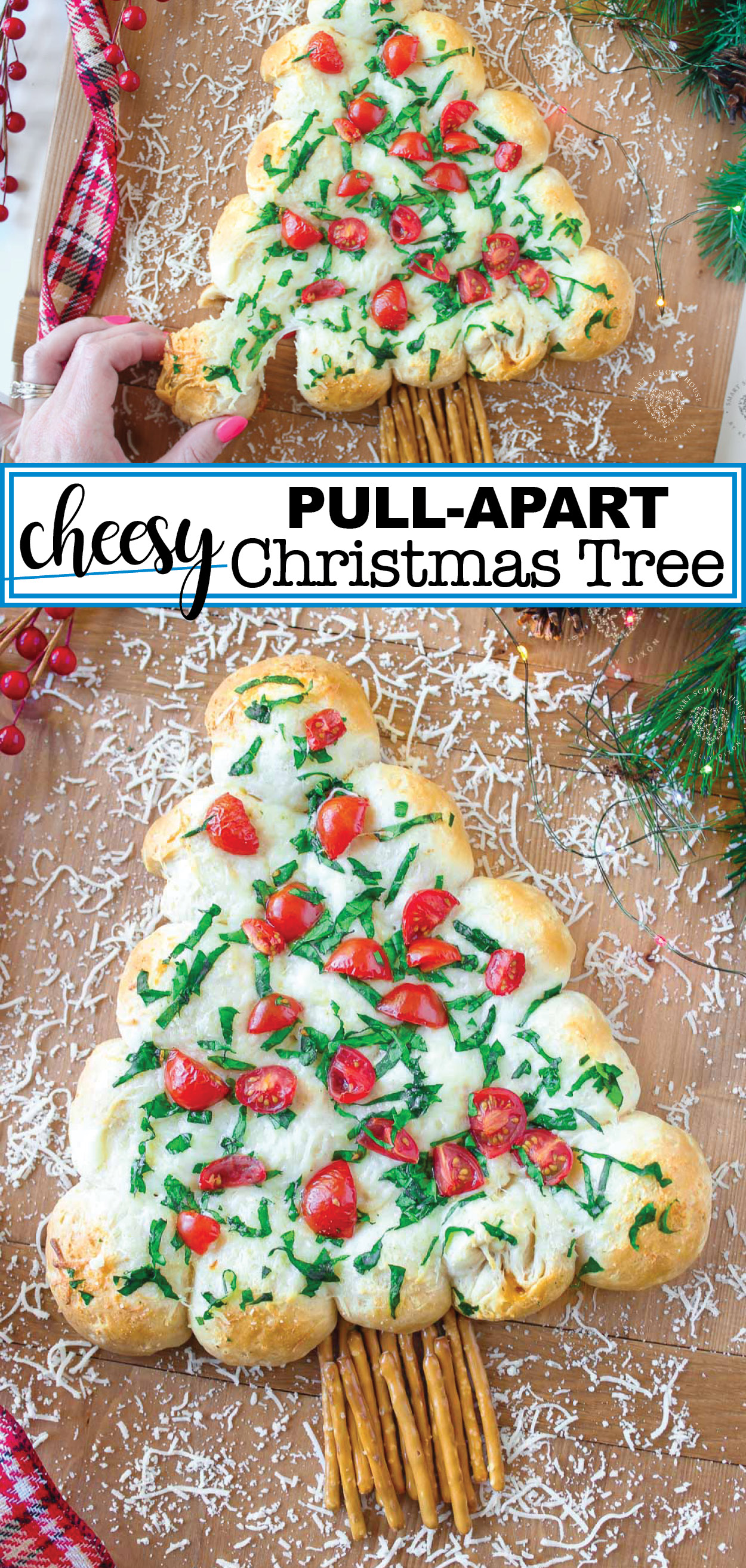 Cheesy Christmas Tree Pull-Apart Bread
