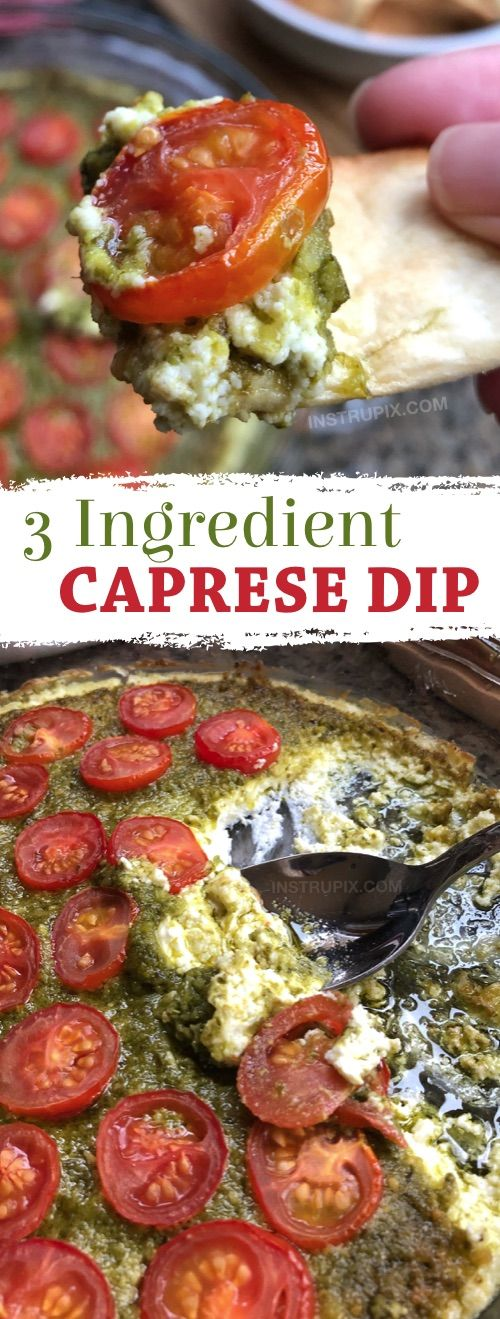 This 3 ingredient appetizer can be thrown together in just a few minutes, and then baked for the perfect warm and comforting party food everyone will love. Serve it with pita chips, bread or crackers.