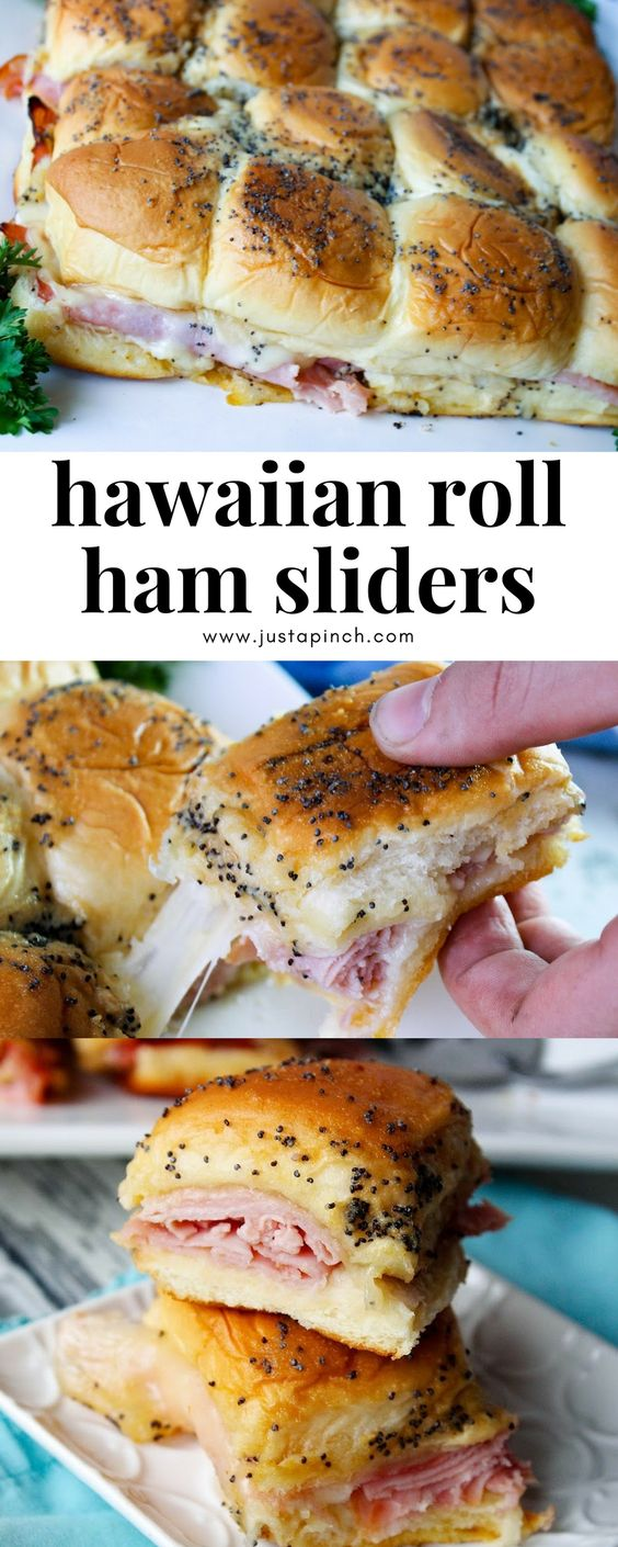 """Hawaiian Roll Ham Sliders - These delicious little delights are great for a picnic, a party, a main dish or just a snack. They are a great """"go to"""" recipe when asked to bring something to any gathering."""