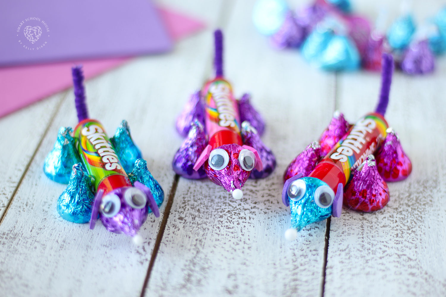 Made from Hershey's Kisses. Easy, Fun and so cute! Valentine Candy Critter for a Fun Kid's Craft and Treat. Lip Balm Critters!