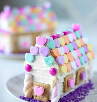Valentine's Day Gingerbread House