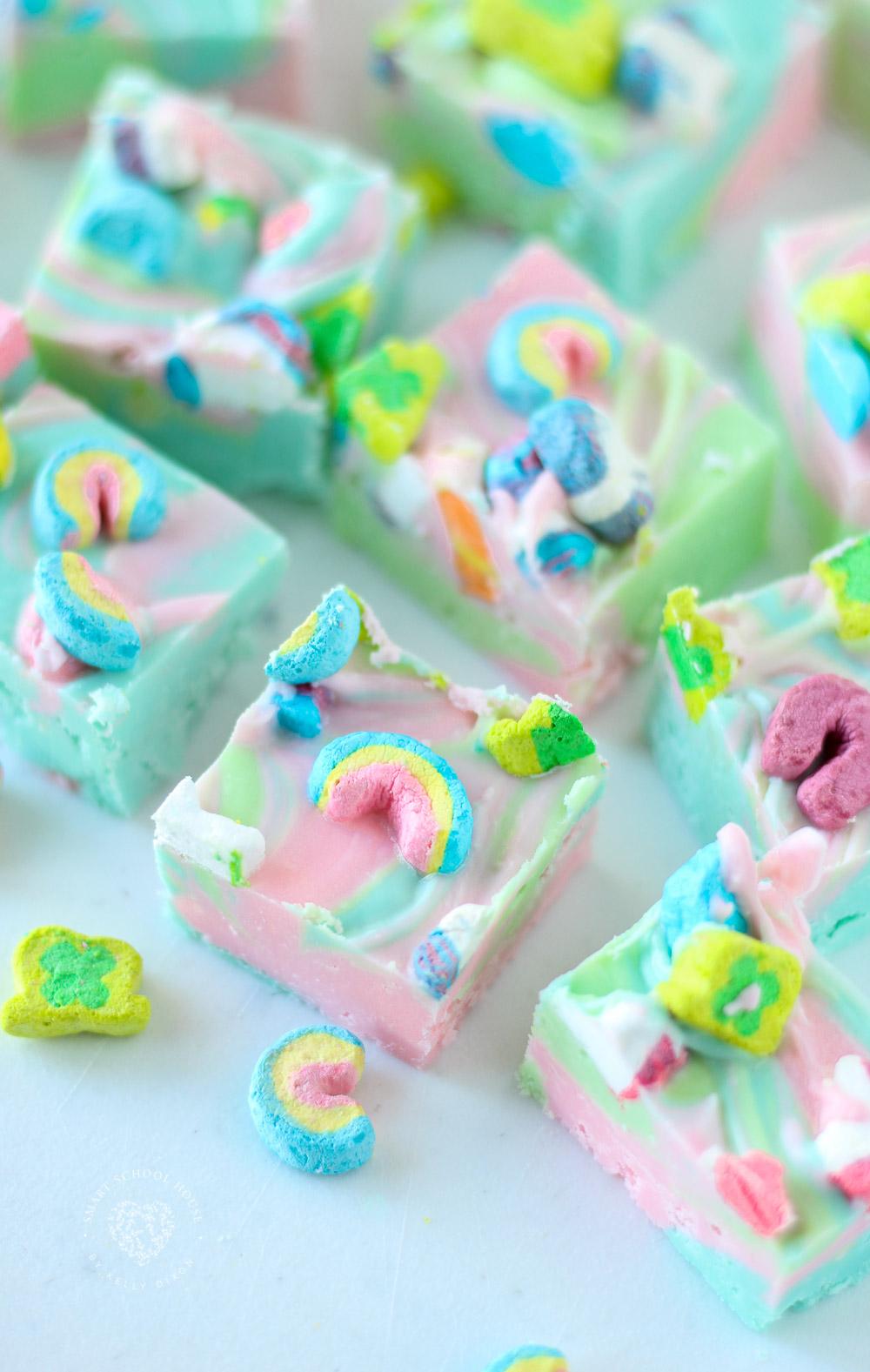 Rainbow Lucky Charms Fudge