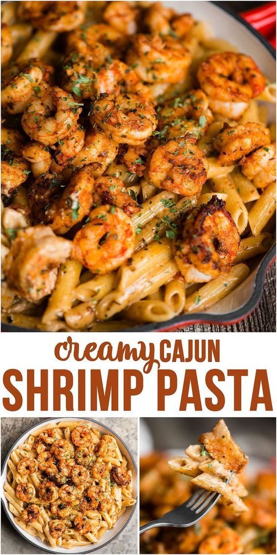 Cajun Shrimp Pasta with a spicy and rich cream sauce is a quick and easy dinner recipe with just the right amount of kick!