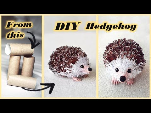 How to make paper DIY Toilet Paper Hedgehog