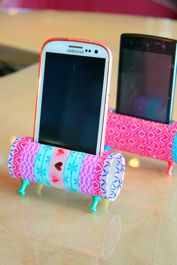 Toilet Paper Roll Phone Holder