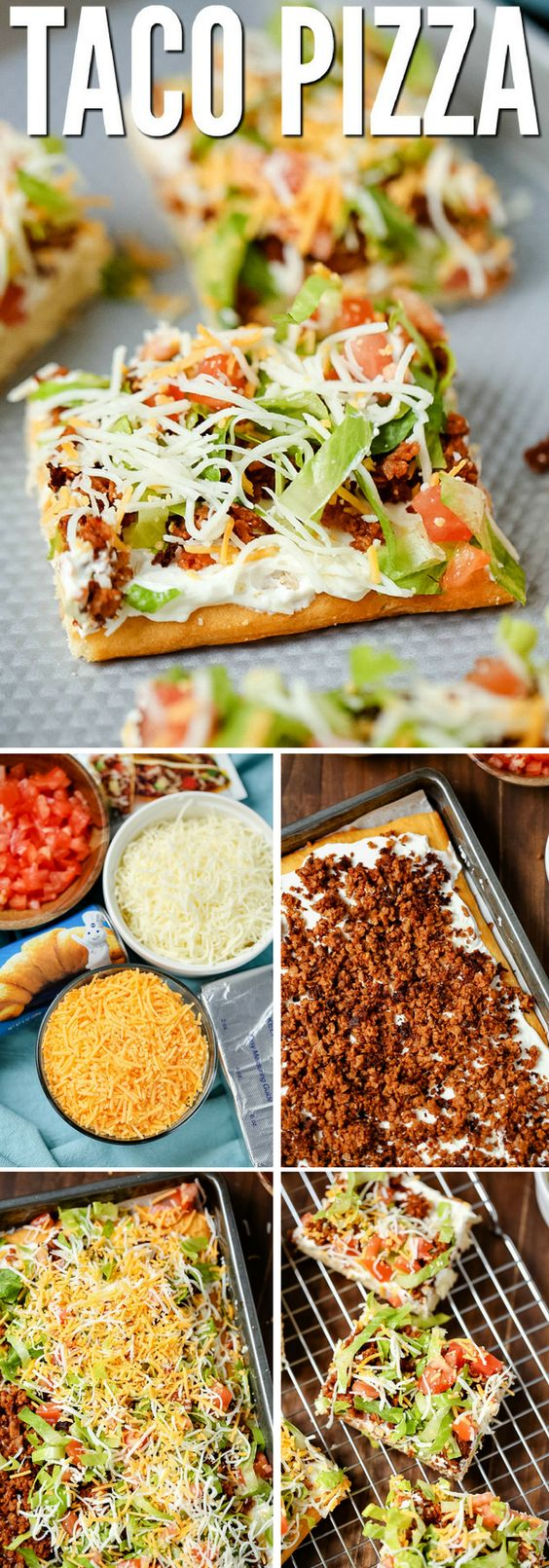 This easy taco pizza is made with a crescent roll crust and a tasty hit with the whole family. With simple ingredients, you can whip up this filling meal in under 30 minutes!
