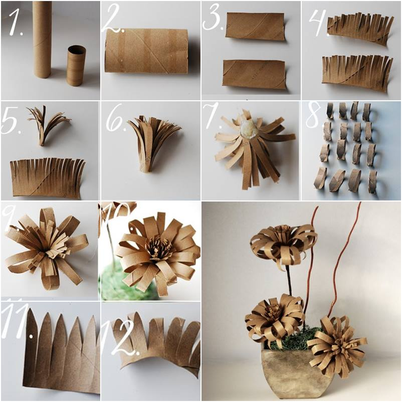 Toilet Paper Roll Flowers