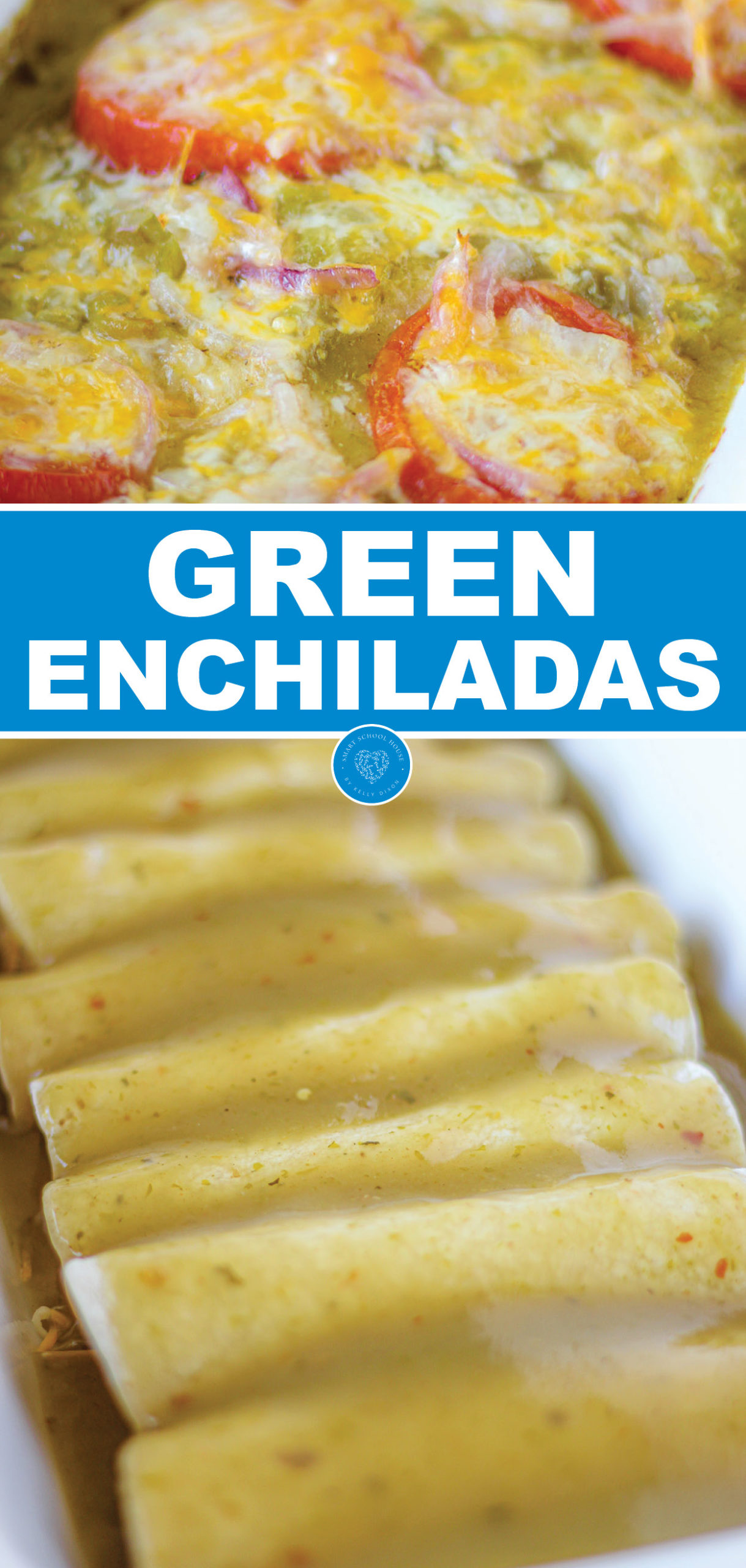These cheese enchiladas are made even better with the addition of the green enchilada sauce. Comfort food at it's best!