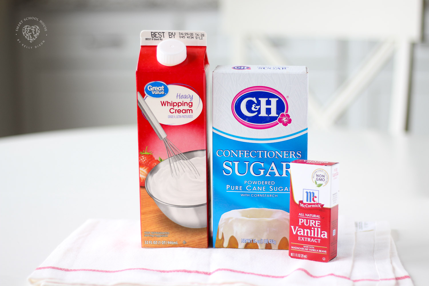 Whipped Cream Frosting Ingredients