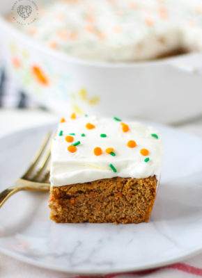 Lazy Carrot Cake Bars