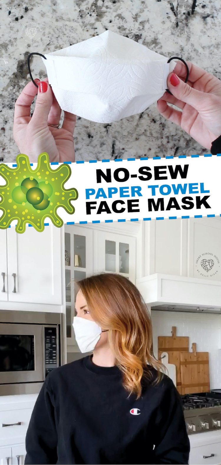 How to make a Structured No-Sew Paper Towel Face Mask - Quick and Easy Tutorial! No sewing required and I'm sure you have the materials to use!