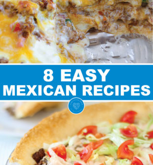 8 Easy Mexican recipes - The ingredients are EASY to find, the ingredients are simple to work with, and each recipe is DELICIOUS! For all of the parents pretending to be teachers out there, grab a margarita, look forward to one of these Easy Mexican Recipes