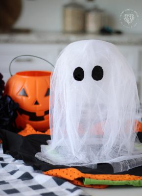 This Spooky Floating Tulle Ghost is so easy and adorable you simply can't help but love it. One special ingredient makes these SUPER easy!