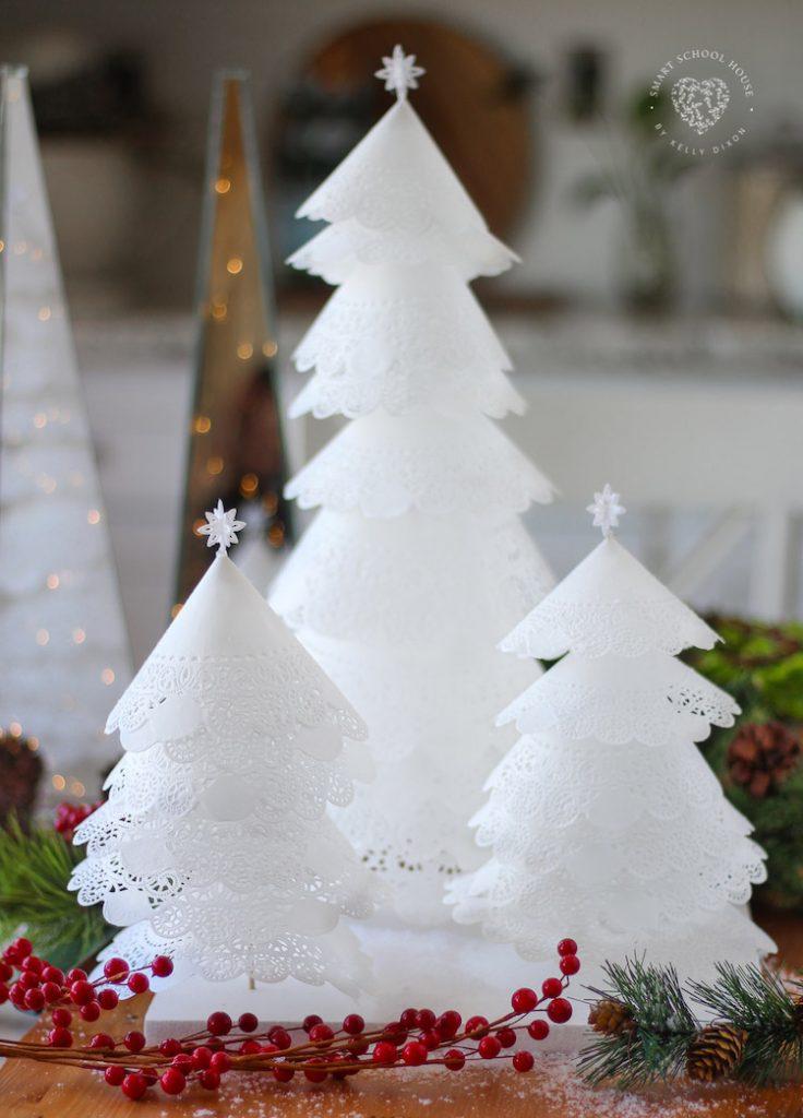 How to Make Doily Christmas Trees