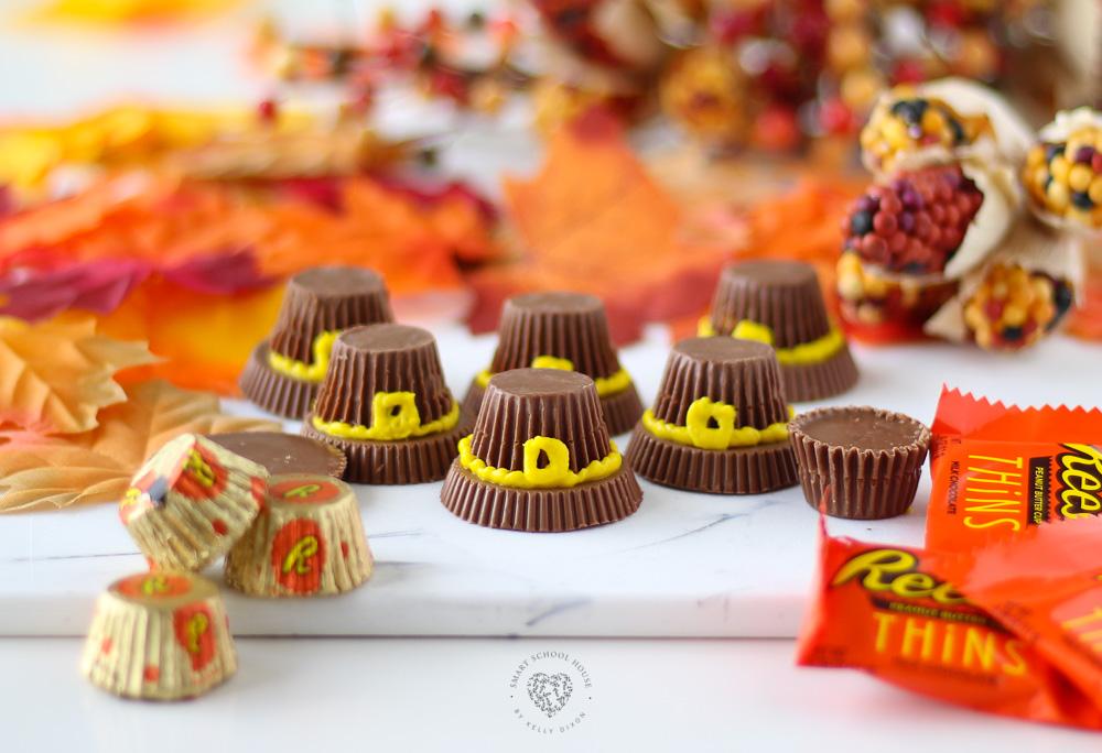 Reese's Peanut Butter Pilgrim Hats Are A Fun Dessert Idea For Thanksgiving.