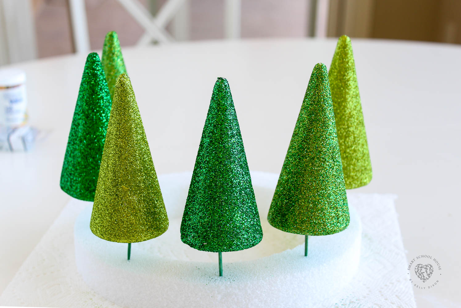 Glittery Christmas Tree Forest