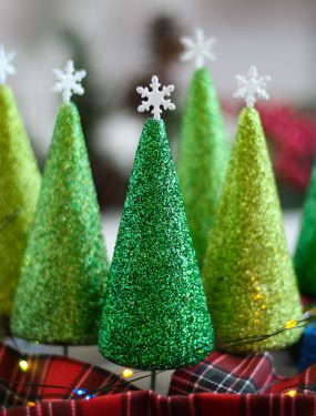 Deck the Halls! I Simply Cannot Wait to Decorate This Year! Just for Fun, I Created These Gorgeous Styrofoam Christmas Trees and They are Sparkling Beautifully in Our Home. Because We're Spending More Time at Home This Year, We Are All About Holiday Crafts and Recipes.