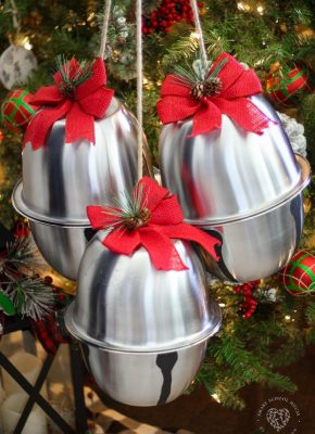 How to Make Giant Silver Jingle Bells for Christmas Using Mixing Bowls